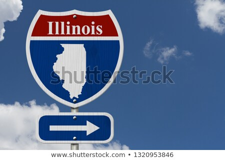 Illinois IL Red 3d USA State Map Stock photo © iqoncept