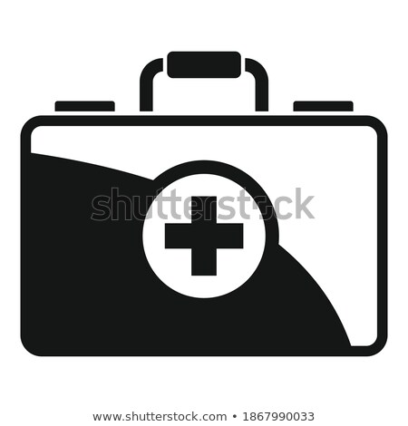 Peligroso caso simple icono blanco negocios Foto stock © tkacchuk