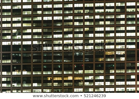 Business kantoorgebouw Windows patroon moderne herhalen Stockfoto © stevanovicigor