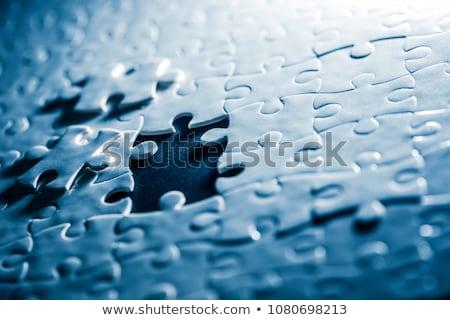 Stratégia puzzle hely hiányzó darabok szöveg Stock fotó © tashatuvango