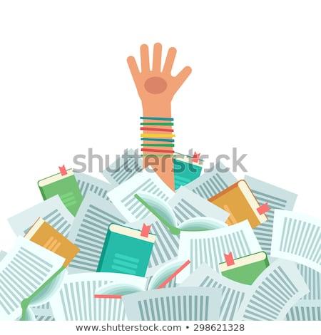 Estudar sentar-se jovem estudante livro isolado Foto stock © tiero
