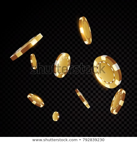 negro · rojo · casino · chip · icono · signo - foto stock © netkov1