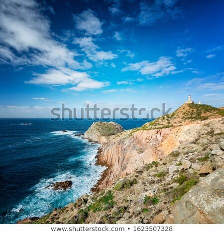 sardinia   capo sandalo with lighthouse stock photo © antonio-s
