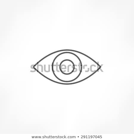 eye icon line vector design stock photo © blaskorizov
