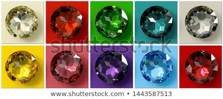 3D rendu diamant sombre bleu pourpre Photo stock © Freshdmedia