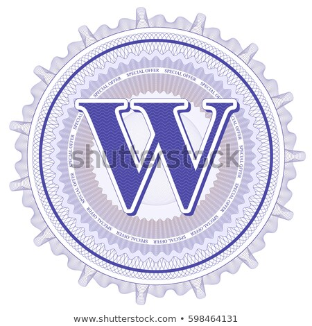 Abstract guilloche Logo, letter-W Stock photo © netkov1
