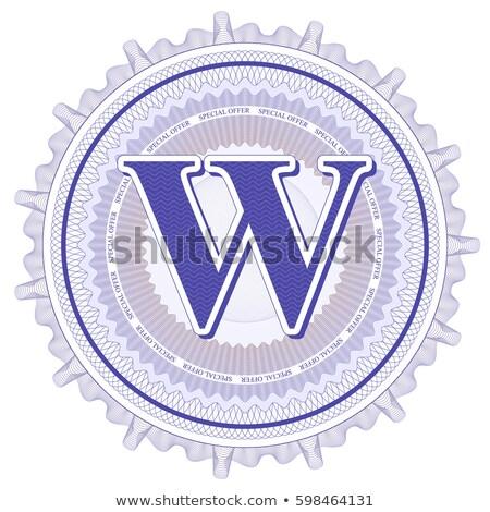 abstract guilloche logo letter w stock photo © netkov1