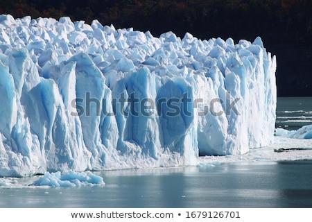 Gleccser részlet kék full frame absztrakt Izland Stock fotó © prill