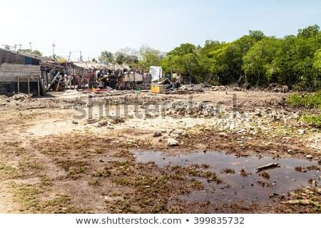 мусор трущобы прачечной большой воды Сток-фото © smithore