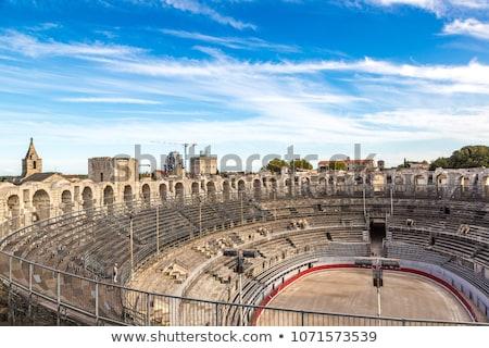 Roman amphitheatre in Arles, France Stock photo © nito