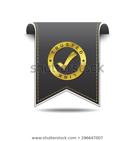 proteger · link · dourado · vetor · ícone · projeto - foto stock © rizwanali3d