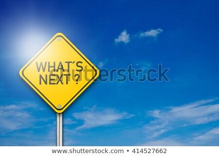 What's next road sign Stock photo © unikpix