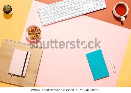 Colorful copybooks, top view Stock photo © cherezoff