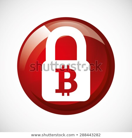 бит монеты красный вектора икона кнопки Сток-фото © rizwanali3d