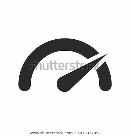 tachometer icon Stock photo © kiddaikiddee