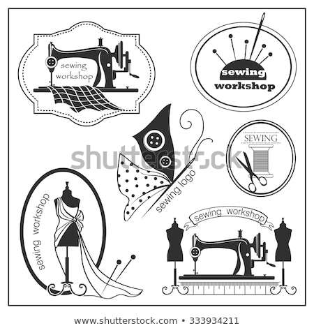 Sketch sewing lable and logotype in vintage style Stock photo © netkov1