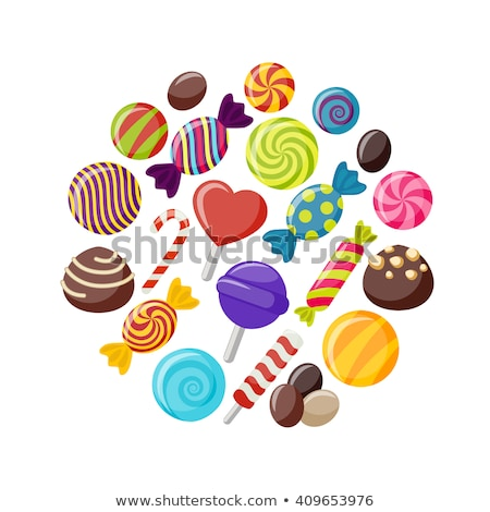Flat Design Candy Stick Circle Icon Stock photo © Anna_leni