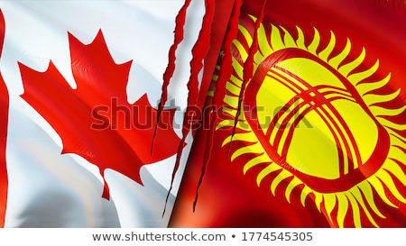 Canada and Kyrgyzstan Flags  Stock photo © Istanbul2009