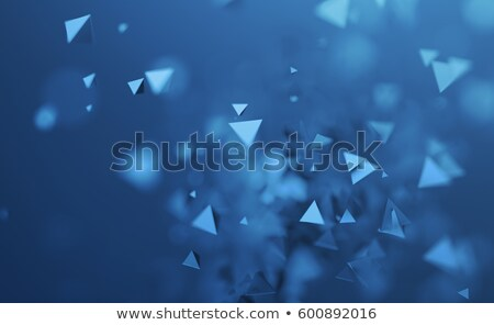 3d blue pyramids flow abstract background stock photo © lenapix