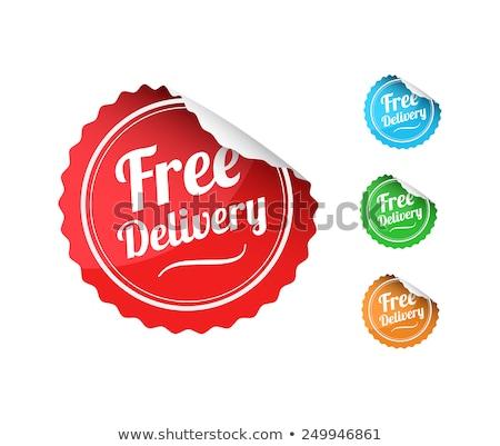 бесплатная доставка зеленый вектора икона дизайна цифровой Сток-фото © rizwanali3d