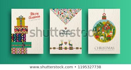 retro · geschenken · ingesteld · geïsoleerd · witte - stockfoto © -baks-