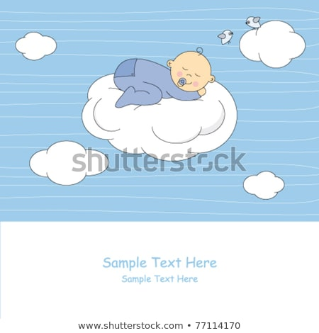 baby sleep in baby buggy stock photo © deyangeorgiev
