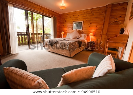 Warm bedroom with a terrace Stock photo © jrstock