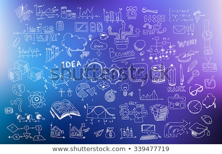 business development concept background wih doodle design style stock photo © davidarts