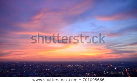 bangkok cityscape capital of thailand and beautiful sky stock photo © mariusz_prusaczyk