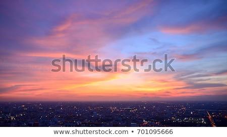 Bangkok Cityscape Tayland güzel gökyüzü şehir Stok fotoğraf © Mariusz_Prusaczyk