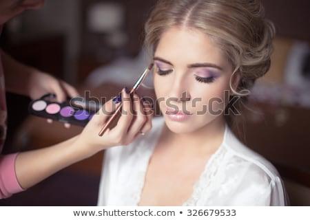Güzel genç bayan yumuşak makyaj parlak Stok fotoğraf © FAphoto