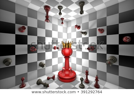schaken · messias · groot · Rood · pion · gouden - stockfoto © grechka333