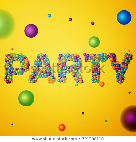 party word consisting of colored 3d particles Stock photo © netkov1