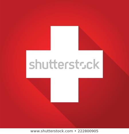 Cruz roja sombra icono caída luz reflexión Foto stock © nicemonkey