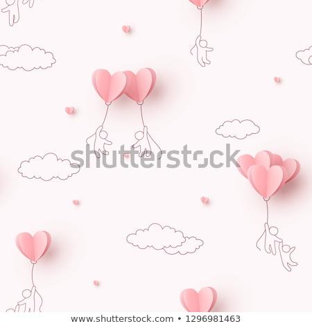 szkic · kartkę · z · życzeniami · streszczenie · wektora · projektu · baby - zdjęcia stock © lenm