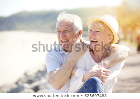 Smiling happy old person Stock photo © zurijeta