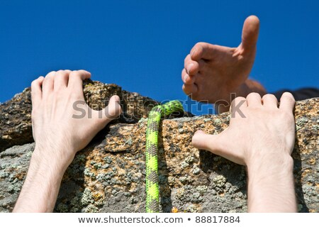 need hand and helping rope Stock photo © your_lucky_photo