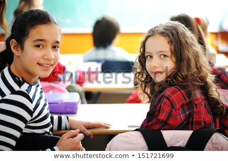 小学校 · 教師 · 作業 · 読む · グループ · 女性 - ストックフォト © zurijeta