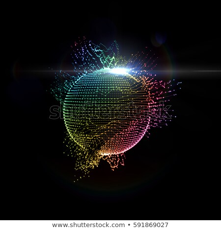 Черно-белые радуга глобусы мира дизайна Сток-фото © Zela