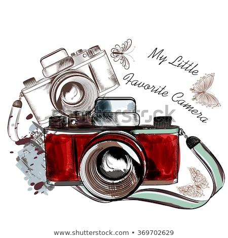 enyém · retro · kamera · fotó · meglepett · divatos - stock fotó © Fisher