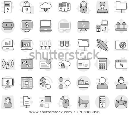 computador · cpu · dólar · on-line · ecommerce · dinheiro - foto stock © devon