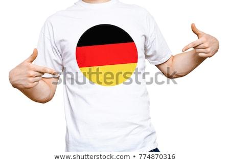 Man wearing white shirt with Germany flag print Stock photo © stevanovicigor