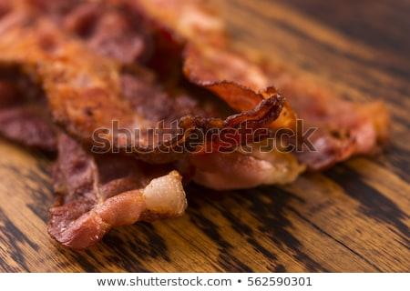 rebanadas · ahumado · tocino · foto · tiro · mesa · de · cocina - foto stock © digifoodstock