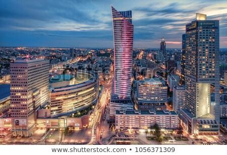 Warschau centrum Polen paleis cultuur wetenschap Stockfoto © filipw