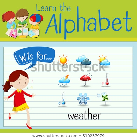 Flashcard letter W is for wind Stock photo © bluering