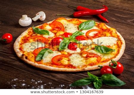 Stockfoto: Prosciutto · mozzarella · basilicum · tomaten · vers