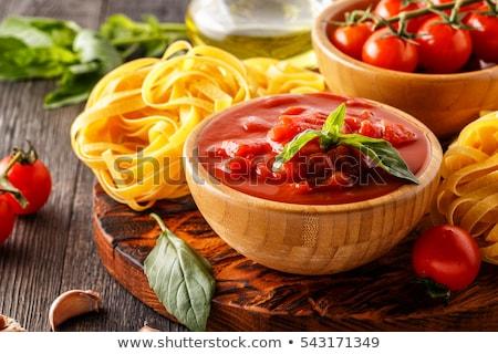 Tagliatelle pasta with tomato paste Stock photo © Digifoodstock