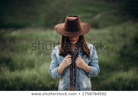 ocidente · jovem · vaqueiro · homens - foto stock © bluering