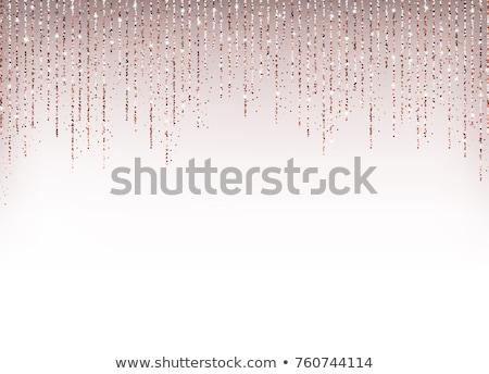 Rosa brillo confeti invitación Foto stock © Stephanie_Zieber