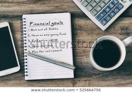 Financière plan texte notepad bureau argent Photo stock © fuzzbones0